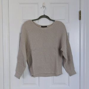 Abercrombie & Fitch Oatmeal Ribbed Dolman Sweater